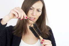 Woman loosing hair Royalty Free Stock Photos