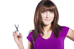 Woman loosing hair Stock Image