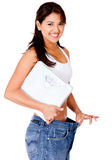 Woman after loosing weight Royalty Free Stock Images