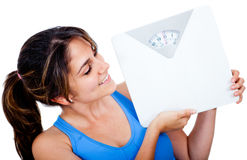 Woman loosing weight Royalty Free Stock Photo