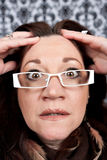 Woman Losing Her Mind Royalty Free Stock Photos