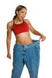 Woman Losing Weight. African american woman losing weight Royalty Free Stock Image
