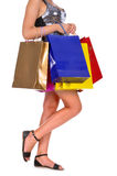Woman with a lot of shopping bags Royalty Free Stock Images