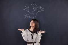 Woman with lots of creativity Stock Photos