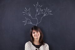 Woman with lots of creativity Stock Image