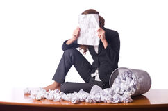 Woman with lots Stock Images