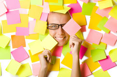 Woman with lots Stock Photo