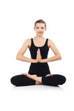 Woman in lotus pose Stock Photography
