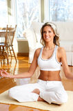 Woman in Lotus Position Royalty Free Stock Photos