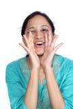 Woman loud screaming Royalty Free Stock Image