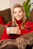 Woman lounging Royalty Free Stock Image