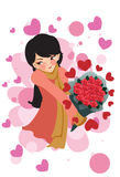 Woman in Love stock illustration