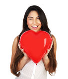 Woman in love Stock Images