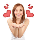Woman in love Royalty Free Stock Photography