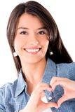 Woman in love Royalty Free Stock Image