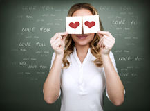 Woman in love Stock Image