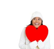 Woman in love, St. Valentine's Day Royalty Free Stock Photos