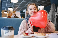 Woman in love in Valentines day Royalty Free Stock Images