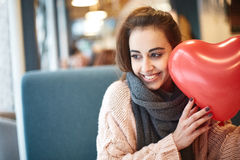 Woman in love in Valentines day Royalty Free Stock Photo