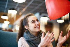 Woman in love in Valentines day Royalty Free Stock Photos
