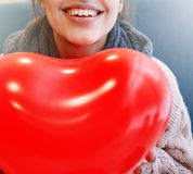 Woman in love in Valentines day Royalty Free Stock Photography
