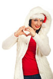 Woman love winter season Stock Image