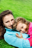 Woman and lovely preschool girl Stock Photo