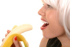 Woman Loves her banana Royalty Free Stock Photos
