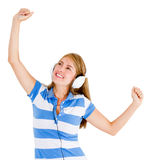 Woman loving music Royalty Free Stock Photos
