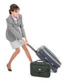Woman  with a luggage Royalty Free Stock Photo