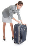 Woman  with a luggage Stock Photo