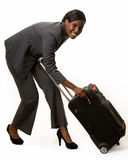 Woman with luggage Stock Image