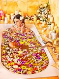 Woman at luxury spa. Royalty Free Stock Image