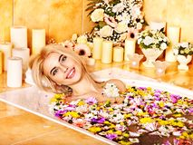 Woman at luxury spa. Royalty Free Stock Photography