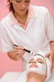 Woman at luxury spa beauty treatment Stock Image