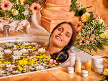 Woman at luxury spa Royalty Free Stock Photos