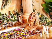 Woman at luxury spa. Royalty Free Stock Images
