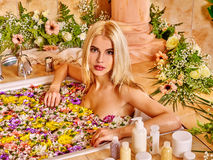 Woman at luxury spa Royalty Free Stock Image