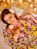 Woman at luxury spa Royalty Free Stock Images