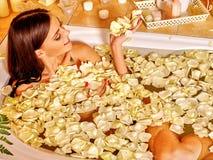Woman at luxury spa Stock Photos