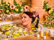 Woman at luxury spa Royalty Free Stock Photography
