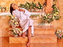 Woman at luxury spa Stock Image