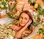 Woman at luxury spa. Stock Image