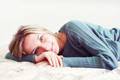 Woman lying Royalty Free Stock Image