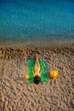 Woman lying on the beach Stock Image