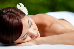 Woman Lying Down Royalty Free Stock Photo