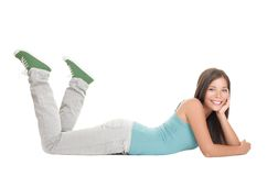 Woman lying down Stock Image