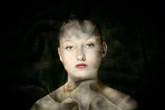 Woman made of cloth Stock Photos
