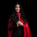 Woman with magic wand Royalty Free Stock Photo