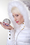 Woman and magical orb Royalty Free Stock Photos